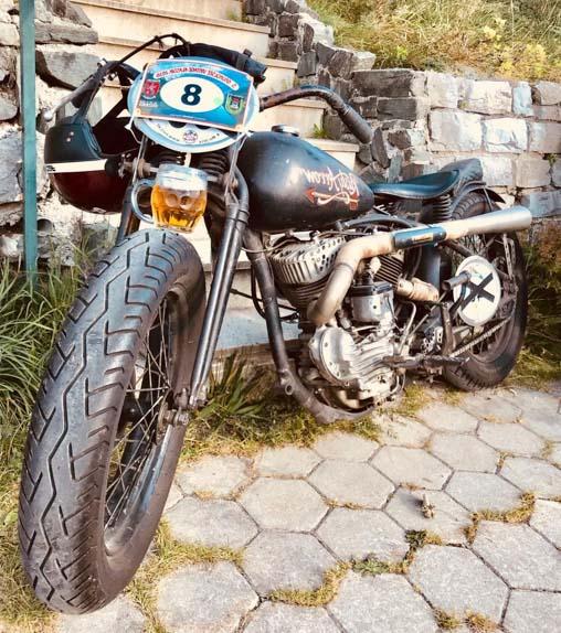 black harley davidson racing bike built year 1947